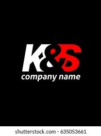 initial K S logo vector