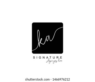 Initial KA beauty monogram and elegant logo design, handwriting logo of initial signature, wedding, fashion, floral and botanical with creative template.