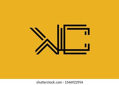 Initial KC CK modern monogram and elegant logo design, Professional Letters Vector Icon Logo on background.