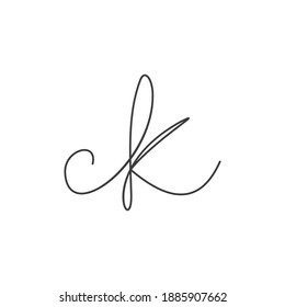 Initial kc letter logo vector template design. Creative abstract letter ck logo design. Linked letter ck logo design.