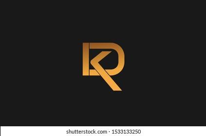Initial KD Letter Logo Design