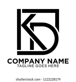 Initial KD simple logo