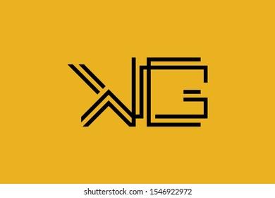 Initial KG GK modern monogram and elegant logo design, Professional Letters Vector Icon Logo on background.