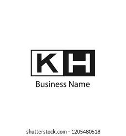 Initial KH Letter Logo Design