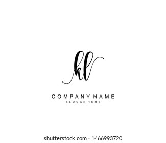 Initial KL beauty monogram and elegant logo design, handwriting logo of initial signature, wedding, fashion, floral and botanical with creative template.
