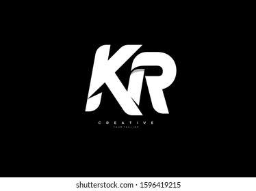 Initial KR Letter Professional Font Logotype