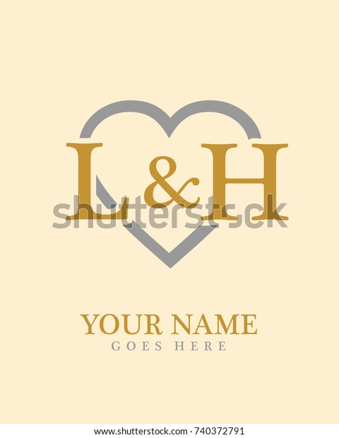 Initial L H Love Background Logo Stock Vector Royalty Free 740372791
