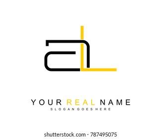 Initial A & L minimalist logo template vector