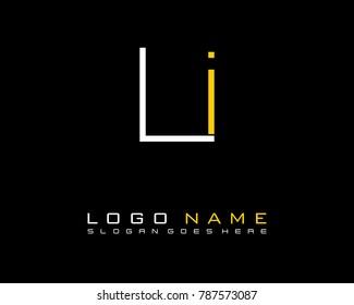 Initial L &  minimalist logo template vector