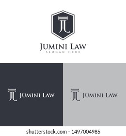 initial law firm logo design vector