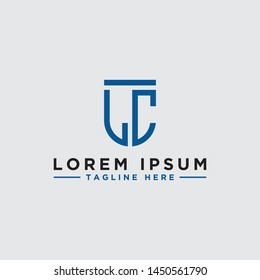 Initial LC font / Monogram. - Vector inspirational logo design - Vector