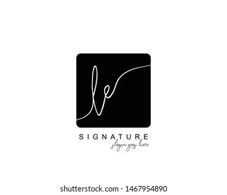 Initial LE beauty monogram and elegant logo design, handwriting logo of initial signature, wedding, fashion, floral and botanical with creative template.