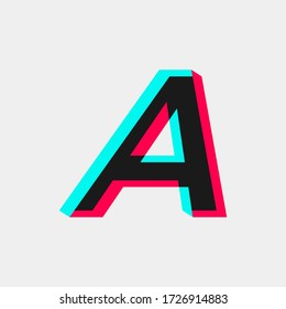 initial letter A with 3D effect. logo for company and business