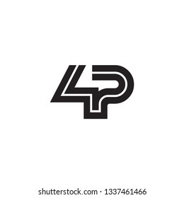 Initial Letter 4P Linked Design Logo Template