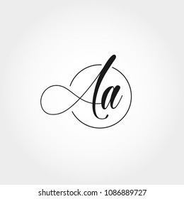 Initial Letter AA Logo Template