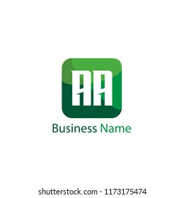 Initial Letter AA Logo Template Design