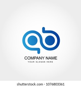 Initial Letter AB Logo Template