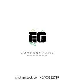 EG initial letter abstract logo design vector.