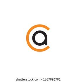 Initial letter ac or ca logo design template