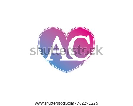 Initial Letter AC Heart Symbol Logo Stock Vector (Royalty Free ...