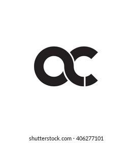 initial letter ac linked circle lowercase monogram logo black