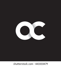 initial letter ac modern linked circle round lowercase logo white black