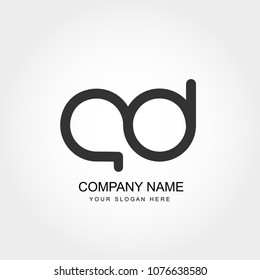 Initial Letter AD Logo Template