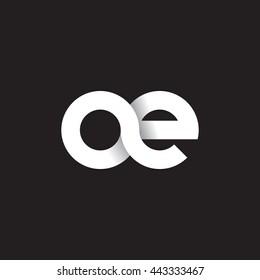 initial letter ae modern linked circle round lowercase logo white black