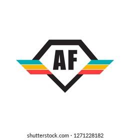 Initial Letter AF Design Logo - Elements