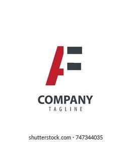 Initial Letter AF Design Logo