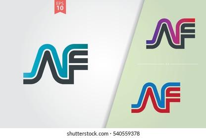 Initial Letter AF Linked Design Logo