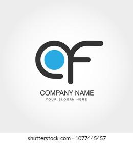 Initial Letter AF Logo Design