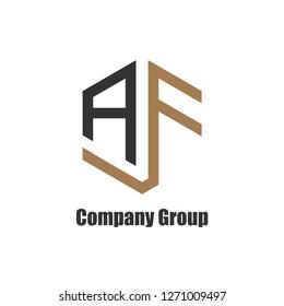Initial Letter AF Logo Finance Company