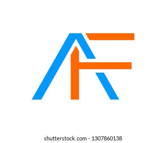 Initial Letter AF Logo Template Design