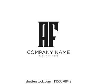 Initial letter AF monogram simple design logo template vector