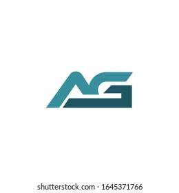 Initial letter ag or ga logo vector design template