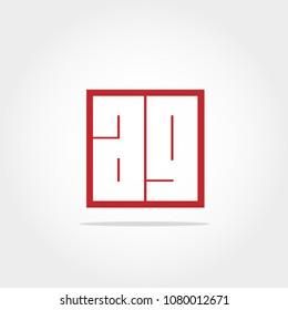 Initial Letter AG Logo Design