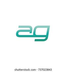 initial letter ag thin logo design