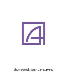 initial letter ah or ha logo vector designs