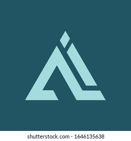 initial letter ai or ia logo vector design