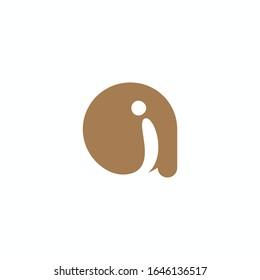 Initial letter ai or ia logo vector templates