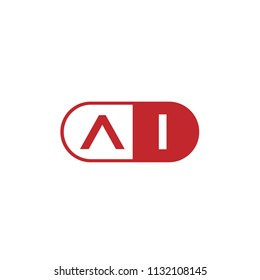 Initial Letter AI Logo Template Design
