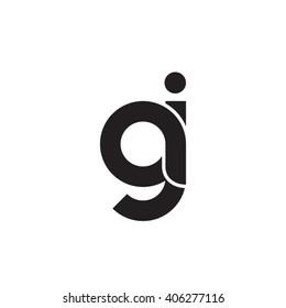 initial letter aj linked circle lowercase monogram logo black