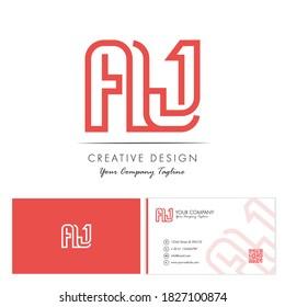 Initial letter AJ Letter Logo Design with creative modern name card vector Illustration. AJ Letter Logo Concept Ready For Use. Initial letter AJ logo vector design template.