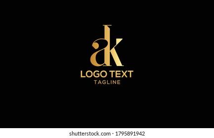 Initial Letter AK or KA Logo Design vector Template. Creative Abstract AK Logo Design Vector Illustration