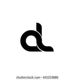 Initial Letter AL Linked Circle Lowercase Logo Icon Design Template Element