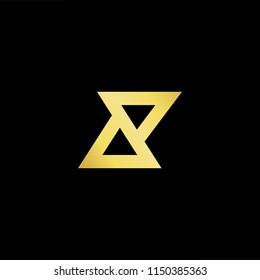 Initial letter AP PA minimalist art monogram shape logo, gold color on black background