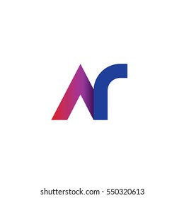 Initial Letter AR NR Rounded Lowercase Logo