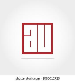 Initial Letter AU Logo Design