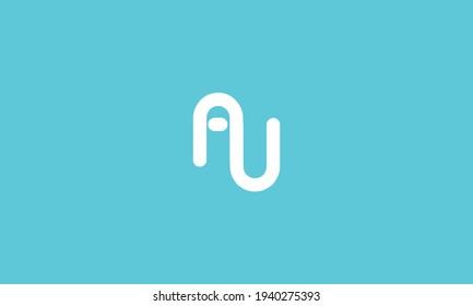 Initial Letter AU Logo Template Design